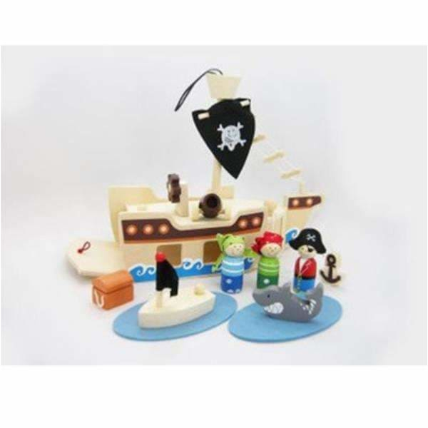 Eleganter,Wooden Pirate Playset,Elle J