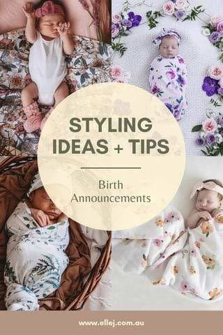 Snuggle Hunny Kids Styling ideas and Tips for Birth Announcements