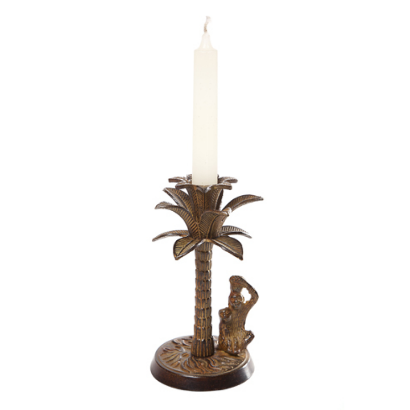 Palm Tree Candle Holder | Brown
