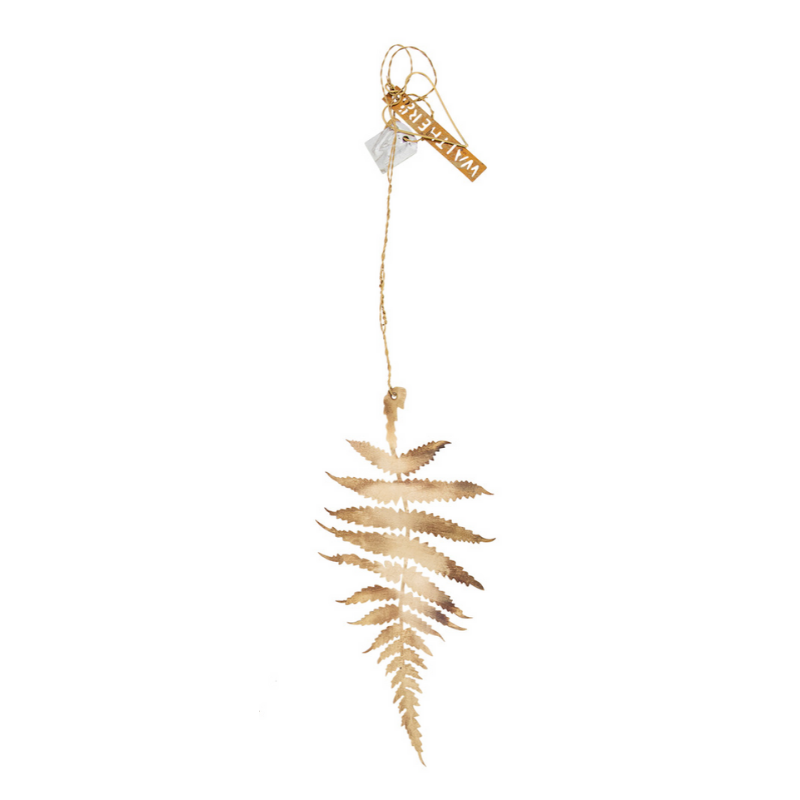 Brass Metal Fern Decoration