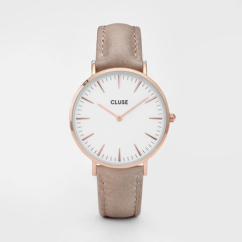 Cluse La Boheme Watch | Rose Gold & Hazelnut Band