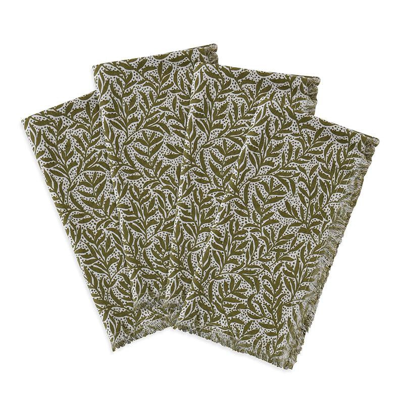 Granada Napkins Olive | Set of 4