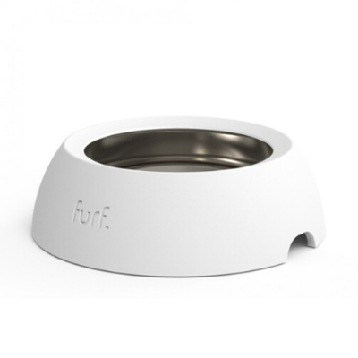 Bone White Spill Resistant Pet Bowl | Large