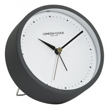 Hoxton Grey Alarm Clock  | Silent Movement