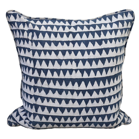 Pyramids Indigo Cushion Cover | 50 x 50cm