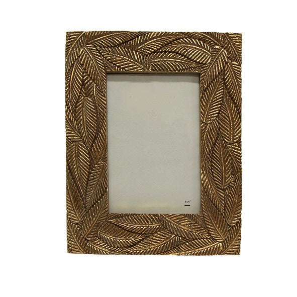 Lucia Gold  Palm Photo Frame | 4x6""