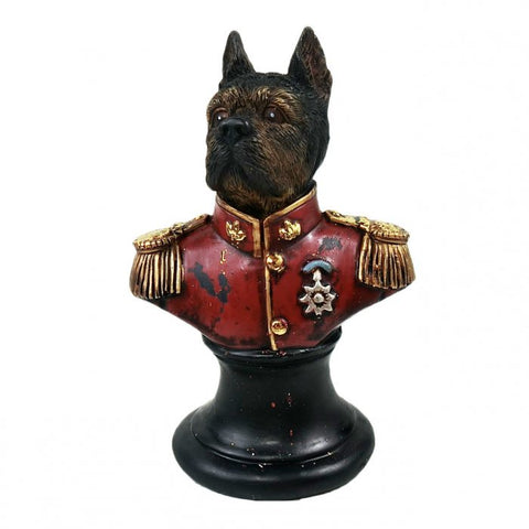 Monsieur Dog Statue | Red