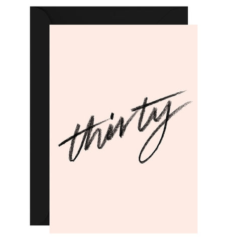 Thirty | Card & Envelope