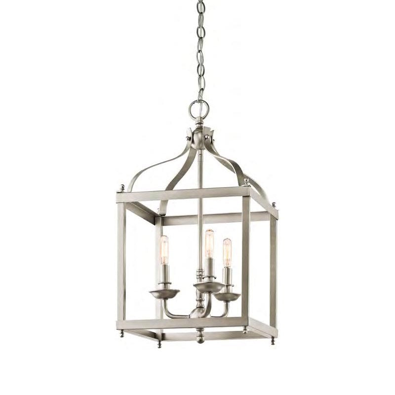 Farmhouse Pendant Light | Brushed Nickel
