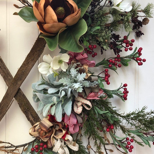 Copper Magnolia Bloom Wreath | Handmade in Country Victoria