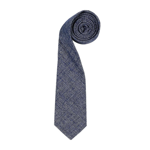 Ink Tweed Check Tie