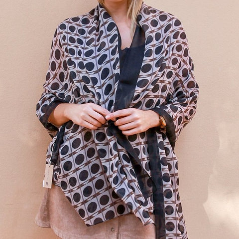 Patterned Winter Scarf | Brown