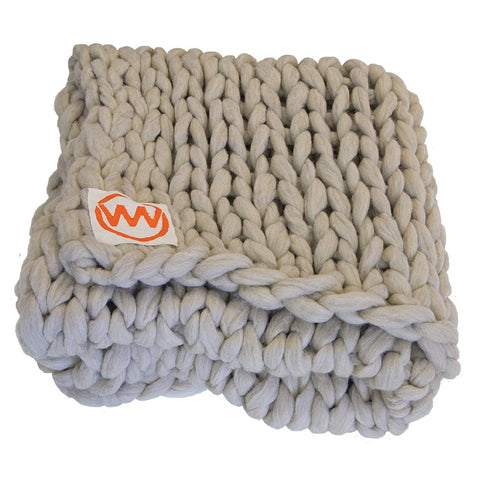 Uniqwa Organic Wool Hand Knitted Throw
