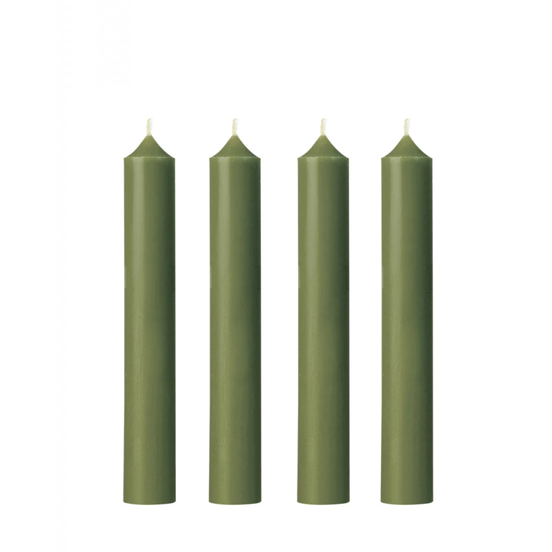 Dinner Candle | Moss Green | Made in France