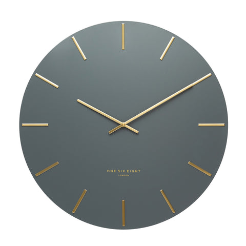 Luca Charcoal Wall Clock | Silent Sweep | 40cm