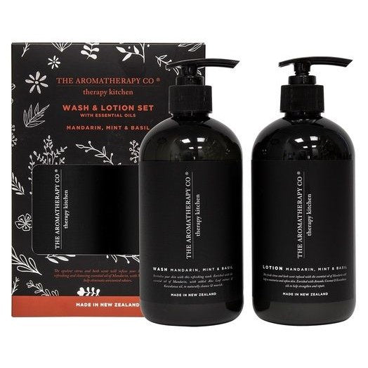 Therapy Kitchen Wash & Lotion Pump Pack | Mandarin, Mint & Basil