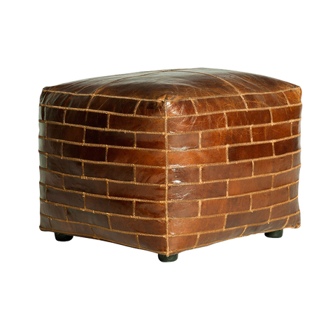 Bourbon Square Ottoman | Leather