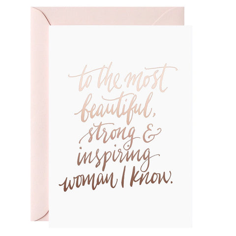 To The Most Beautiful Woman | Card & Envelope