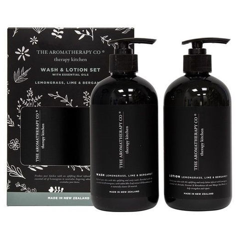 Therapy Kitchen Wash & Lotion Pack | Lemongrass & Lime