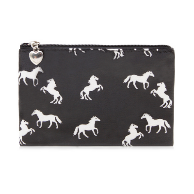 Black Horse Wall Zip Case