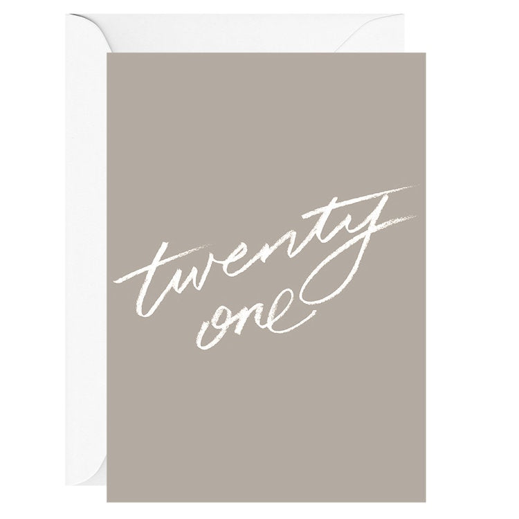 Twenty One | Card & Envelope