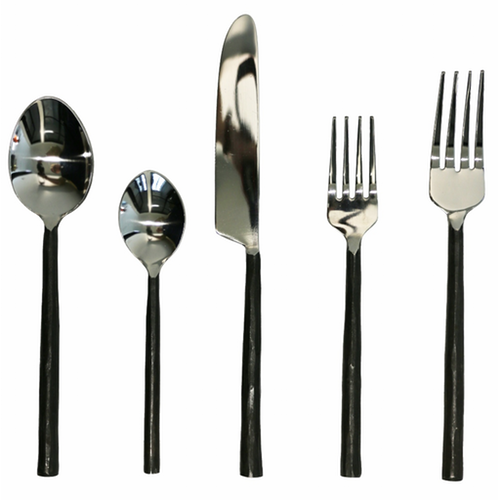 Burnished Black Cutlery | 5 pc Place Setting