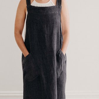 Woven Linen Apron | Cross Back | Arabica