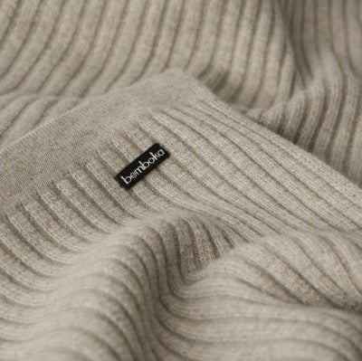 Wide Rib Throw | Angora & Merino