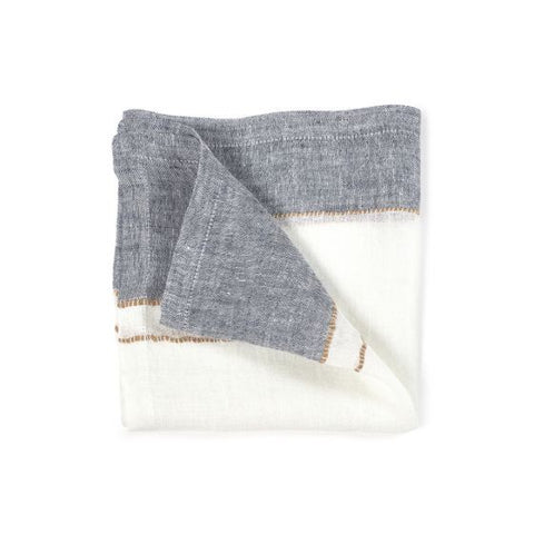 West Hinder Wheat Stripe Napkin | 42x42cm | Linen