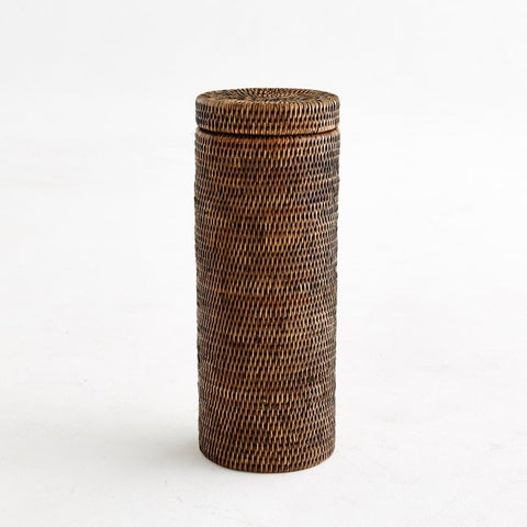 Toilet Roll Holder | Rattan | Antique