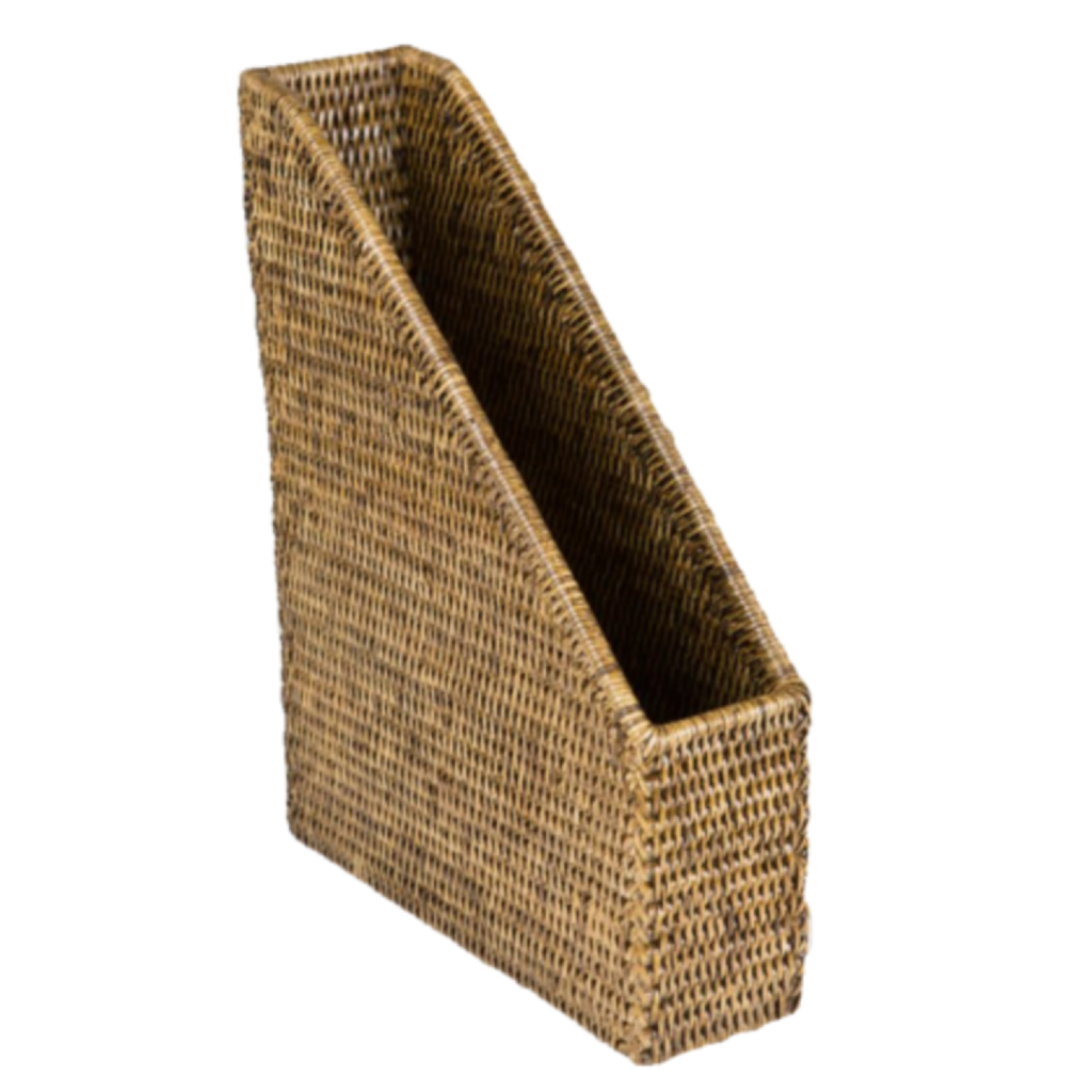 Rattan File Holder  | Antique Finish