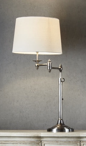 Mackay Swing Arm Table Lamp - Antique Silver CH ND