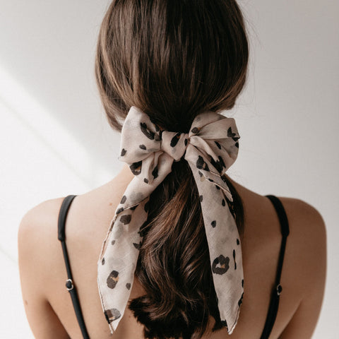 Leopard Mini Scarf | Blush