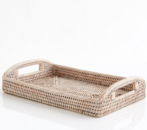 Baby Tray | Rattan | White Wash