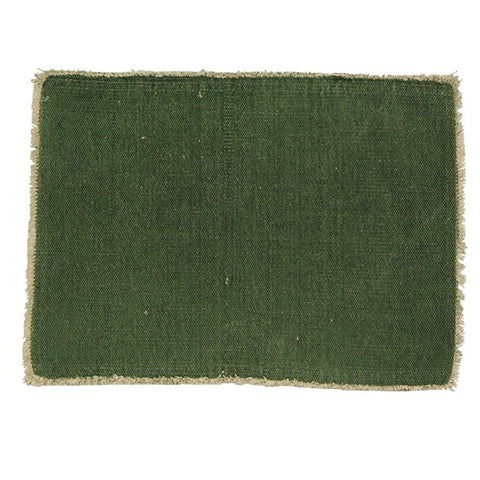 Frayed Cotton Placemat | Green