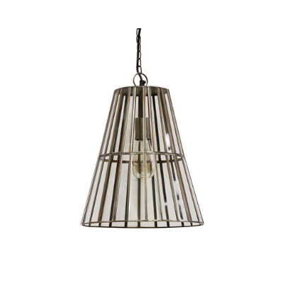 Italia Brass and Glass Hanging Light | Large