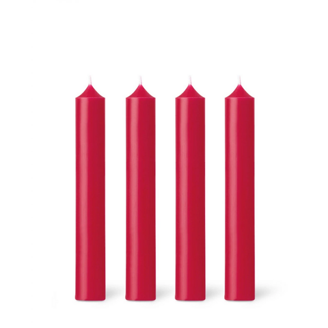 Dinner Candle | Rouge Red | Made in France