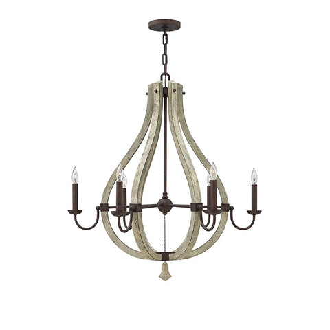 Middlefield Iron Rust Chandelier | 6 Light