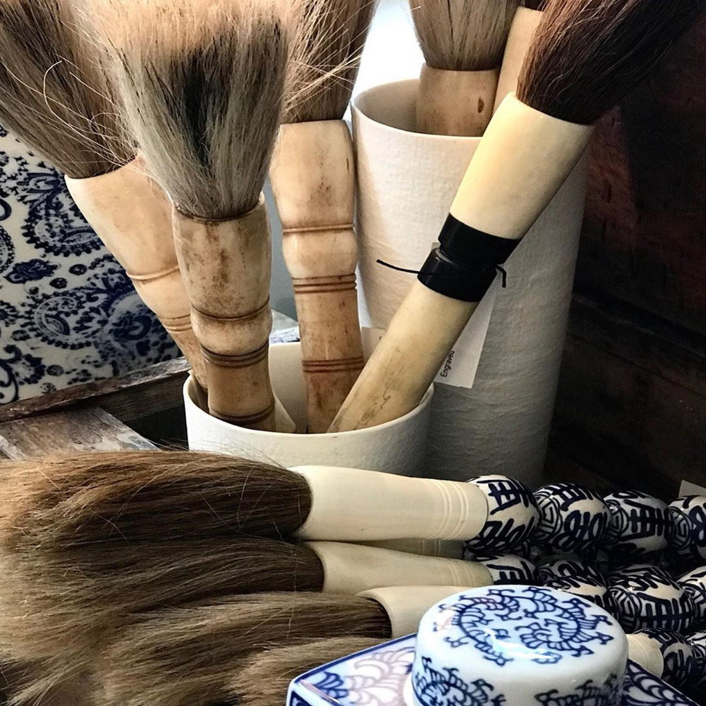 Bamboo & Bone Calligraphy Brush