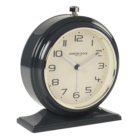 Clock - Oxford - Alarm - Charcoal