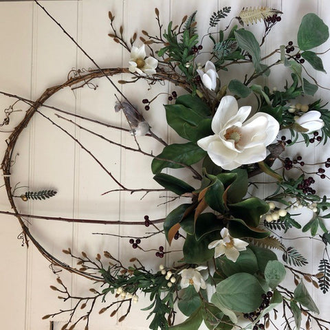 Magnolia Bird Wreath | Handmade in Country Victoria