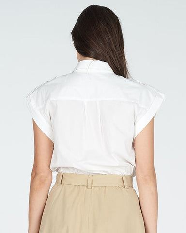 Faction Cotton Poplin Vanilla Top | Zoe Kratzmann