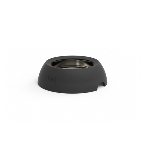 Small Spill Resistant Pet Bowl | Black Stone