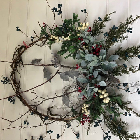 Crowing Bird Wreath | Handmade in Country Victoria
