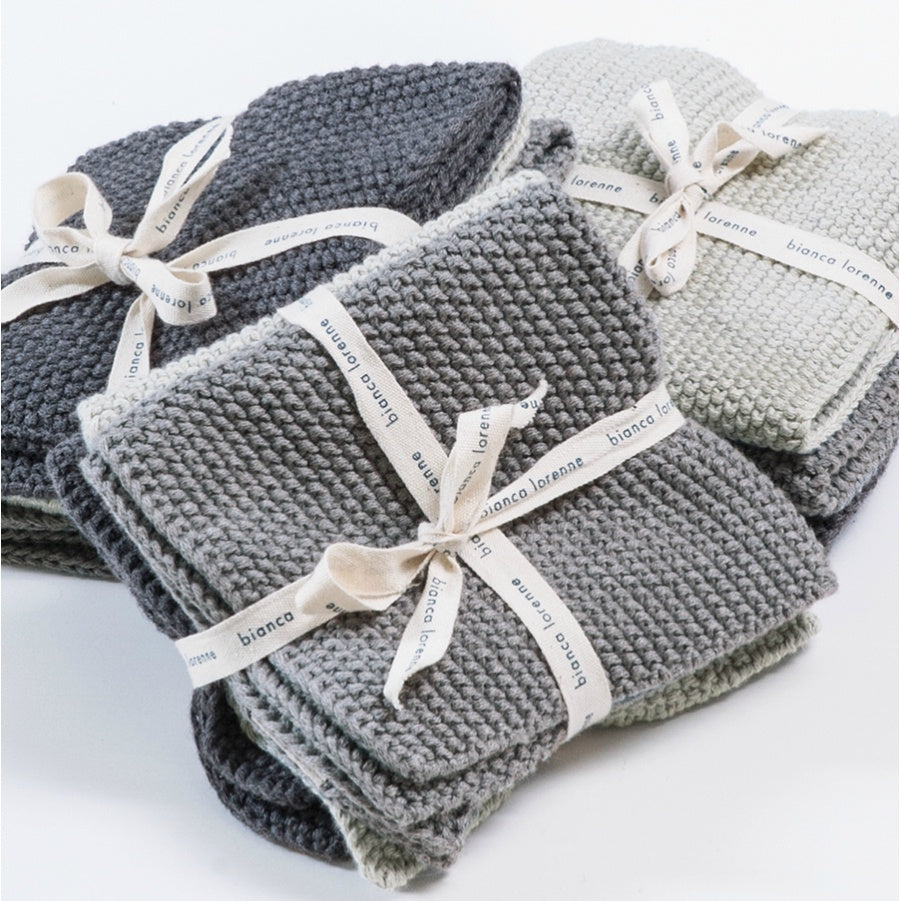 Lavette Wash Cloths | Set of 3 | Grey Tones