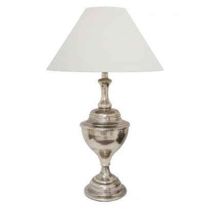 Brushed Pewter Lamp | Urn Style