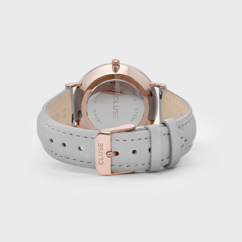 La Boheme Cluse Watch | Rose Gold & Grey Strap