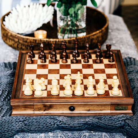 "Dal Rossi 20"" Chess Set with Drawer 
