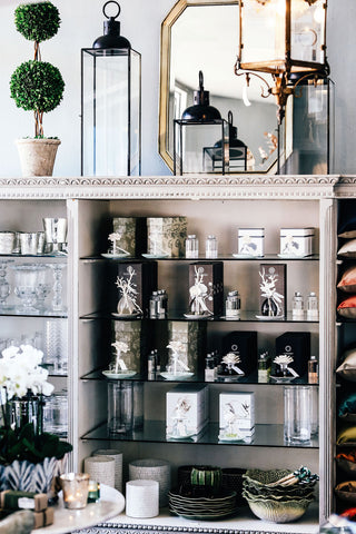 French Display Unit | Painted with Glass Shelves