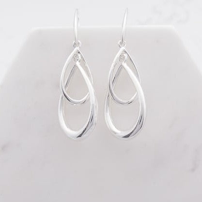 Double Teardrop Earring | Silver